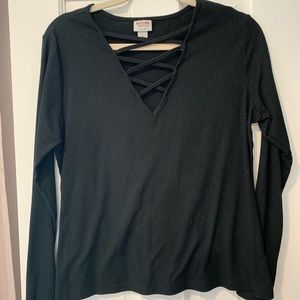 Tops - Black Casual Going Out Shirt!
